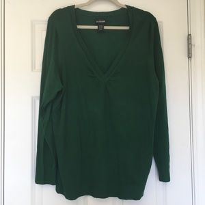 Size 22/24 Lane Bryant Green V Neck Sweater